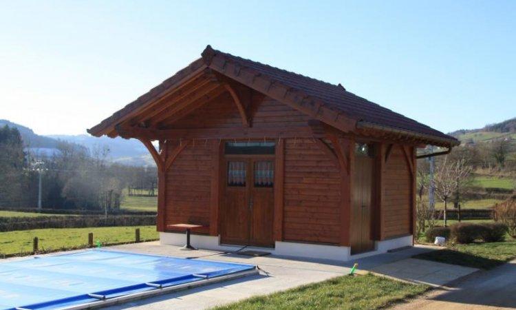Création abri de piscine - pool house Matour