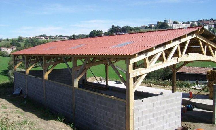 Pose de toiture bac acier Matour