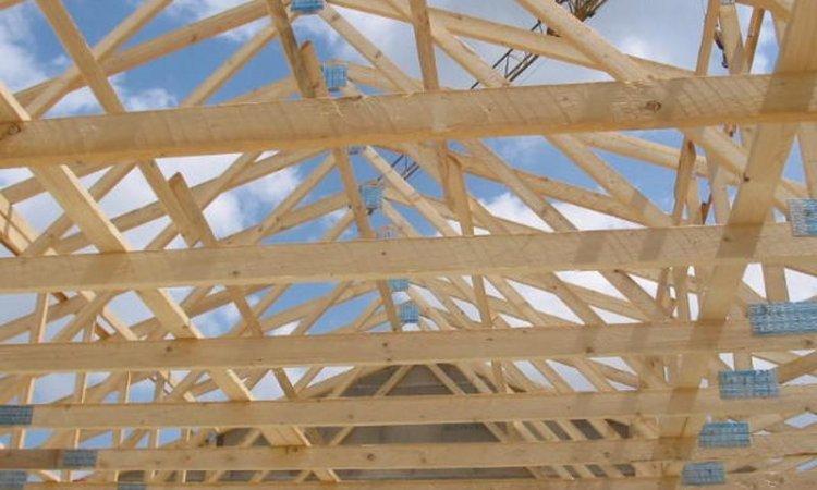 Pose de charpente bois bâtiment agricole Matour